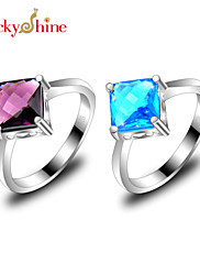 Prsteny s kamenem Topaz Módní Fialová Modrá Šperky Párty 1ks