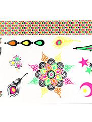 1 ks zářivkové barevné náramky tetování nálepky pro tělo make-up w323
