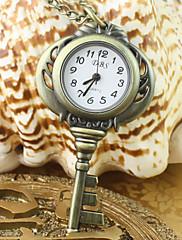 女性のアナログクォーツポケットネックレス時計