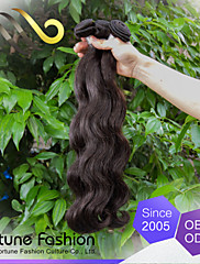 6a100%人間の髪の毛バージンレミー3枚1束未処理の実体波