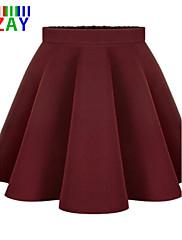 Ležerno Ženski Suknje - Mini , Mikroelastično Poliester