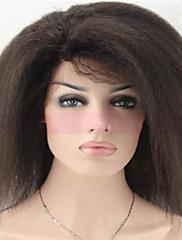 # 1, # 1b, # 2, # 4 panenských mongolských lidské vlasy krajka paruky afro Glueless výstřední rovně krajky vpředu paruky černé ženy