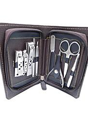 manikúra pedikúra set z nerezové oceli nůžky na nehty kůžičky 9 v 1 případě groomingu kit