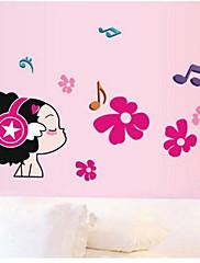 Botanický motiv / Hudba / Módní / Lidé Samolepky na zeď Samolepky na stěnu , PVC 50cm*70cm