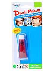 赤ハロウィーンフェイスペイントの悪魔