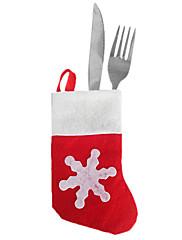 クリスマスディナーテーブルパーティの装飾(12個)用のナイフフォークの布カバーのサンタミニソックス