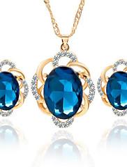Šperky Set Křišťál Křišťál Slitina Černá Modrá Svatební Párty Denní Ležérní 1Nastavte Náhrdelníky Küpeler Svatební dary