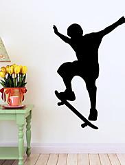 ファッション / 人物 / スポーツ ウォールステッカー プレーン・ウォールステッカー , Vinyl stickers 58*90cm