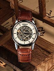 Pánské Náramkové hodinky Automatické natahování Kůže Kapela Černá Hnědá Černá Hnědá