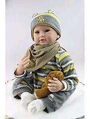 npkdoll生まれ変わった赤ちゃん人形柔らかいシリコーン22inchの55センチメートル磁気口美しいリアルなかわいい男の子の女の子のおもちゃヒグマ