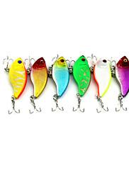 """6 個 ルアー バイブレーション ランダム色 グラム/オンス,55 mm/2-1/4"""" インチ,硬質プラスチック 海釣り 川釣り ルアー釣り 一般的な釣り"""