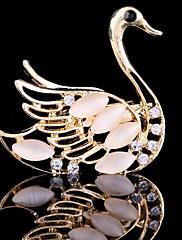 dámská krystal labuť zvíře brož pro svatební party dekorace šátek, jemné šperky, náhodné barvy