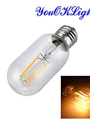 1個 YouOKLight E26/E27 4W 1 COB 400 LM 温白色 B edison ビンテージ LEDボール型電球 交流220から240 V