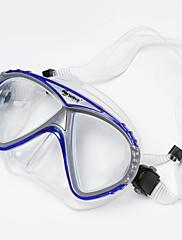 Šnorchlování balíčky Dva-Window Dospělý Silikon Modrá