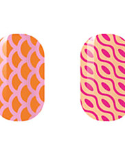 Narančasto / crvene šuplje naljepnice za nokte