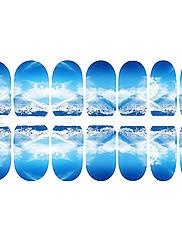 lijepa plava fluorescentna kulise za nokte nakit