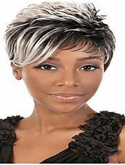 2015 Afroamerikanac perika modne kratka ravna žene sintetičkih perika kosa sijeda vlasulja