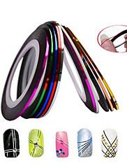 1pcs 2mm 20m noktiju alati art pruga vrpca linija naljepnica nail art ljepota ukras nc124 slučajni isporuke