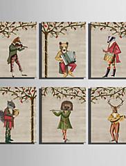 キャンバス地プリント 動物 Modern,1枚 キャンバス 縦長 版画 壁の装飾 For ホームデコレーション