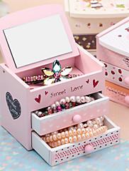 ジュエリーボックス ウッド 1個 ピンク