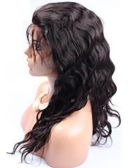 黒人女性のための250%の高密度マレーシアバージン実体波フルレース人間の髪の毛のかつらは、フロントかつらをレース12-24inch