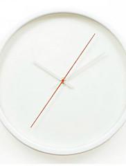 Módní a moderní tradiční Ostatní Nástěnné hodiny,Kulatý Skleněný Kov Umělá hmota 30*30CM Vevnitř Hodiny