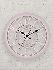 Módní a moderní Ostatní Nástěnné hodiny,Kulatý Umělá hmota 35.5*35.5CM Vevnitř Hodiny