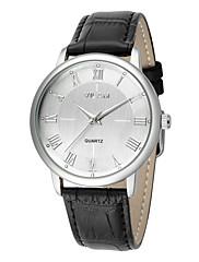 Pánské Módní hodinky Křemenný Voděodolné Kůže Kapela Běžné nošení Černá Hnědá Bílá Černá Hnědá