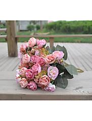Polyester Svatební dekorace-1ks / Set Umělé květiny Svatba Klasika Červená / Růžová / Burgundská / Oranžová / FuchsiováJaro / Léto /