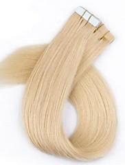 40 ks / balení cutile tape / pu / kůže prodlužování vlasů blond barva vlasů brazilský s cutile 2,5 g na vláknu
