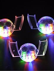 3pcsのカラフルな点滅がフラッシュ光マウスガードピースを4色パーティー輝く歯のおもちゃお祝いのパーティー用品主導しました