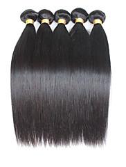 Lidské vlasy Vazby Malajské vlasy Proste 12 měsíců 5 kusů Vazby na vlasy