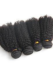 Lidské vlasy Vazby Brazilské vlasy Kinky Curly 12 měsíců 4 kusy Vazby na vlasy