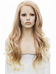 imstyle 26 smíšené blond vlna syntetické krajky vpředu paruky