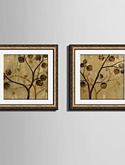花柄/植物の 額入りキャンバス / 額入りセット ウォールアート,ポリ塩化ビニル ゴールデン マットあり フレーム付き ウォールアート