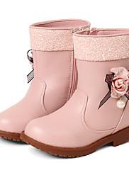 Za djevojčice Čizme Proljeće Jesen Zima Udobne cipele Umjetna koža Formalne prilike Ležeran Zabava i večer Kockasta potpeticaMašnica