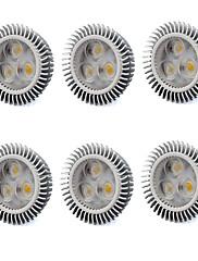 6W GU5.3(MR16) LEDスポットライト MR16 3 ハイパワーLED 560 lm 温白色 / クールホワイト V 6個