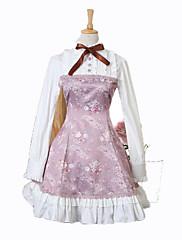 Una Sola Pieza/Vestidos Gosurori Princesa Cosplay Vestido  de Lolita Moda Manga Corta Corto / Mini Vestido por