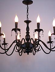 Evropský styl křišťál svíčka žárovka obývací pokoj lampa jídelna ložnice oblečení shop lampy a lucerny dekorace projekt droplight