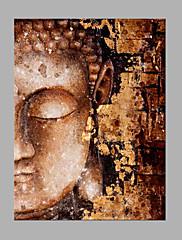 Ručně malované Náboženství a spiritualita Vertikální,Abstraktní Jeden panel Plátno Hang-malované olejomalba For Home dekorace