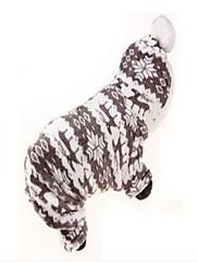 Cachorro Casacos Roupas para Cães Festa Mantenha Quente Geometrico Cinzento Café Rosa claro
