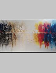 手描きの 抽象画 横式,抽象画 近代の 1枚 キャンバス ハング塗装油絵 For ホームデコレーション
