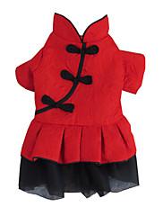 Pes Šaty Oblečení pro psy Módní Jednolitý Červená