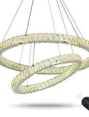 Anel redutor dimmable levou teto pingente luz led iluminação lustres modernos lâmpada interior interior com controle remoto