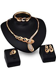 Dámské Náhrdelníky s přívěšky imitace drahokamu Módní Přizpůsobeno Štras Pozlacené Slitina Geometric Shape Šperky ProZásnuby Večerní