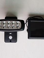 Sb-002 energia solar 10led sensor de corpo humano lâmpada luzes de jardim solar lâmpada de parede super brilhante lâmpadas impermeáveis