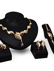 Dame Halskædevedhæng Rhinsten imiteret rubin Mode Personaliseret Zirkonium Guldbelagt Legering Geometrisk form Smykker Til Fest Forlovelse
