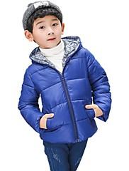 男の子 ゼブラプリント ポリエステル ダウン&コットンキルティング 冬 オールシーズン 長袖
