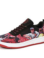Ženske Cipele Til PU Proljeće Jesen Udobne cipele Svjetleće tenisice Sneakers Ravna potpetica Okrugli Toe Vezanje Za Kauzalni Sive boje