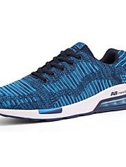 メンズ 靴 チュール 春 秋 ライト付きソール アスレチック・シューズ ランニング 編み上げ 用途 スポーツ ブラック ブルー